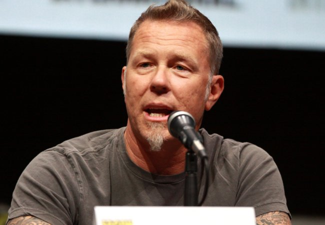 James Hetfield speaking at the 2013 San Diego Comic Con International