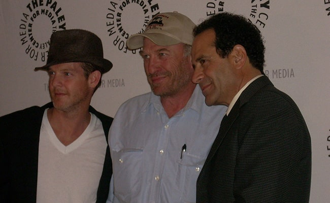 Jason Gray-Stanford, Ted Levine and Tony Shalhoub at Paley Center for Media in December 2008