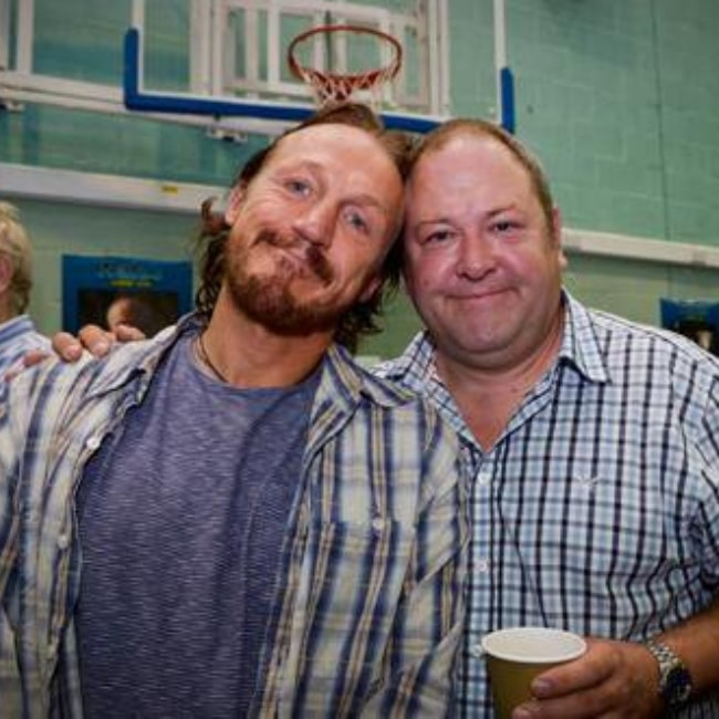 Jerome Flynn in a picture with Mr. Mark Addy in June 2013