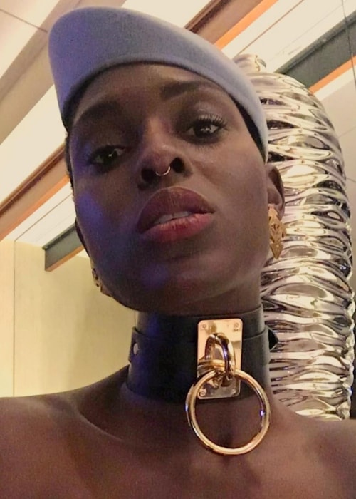 Jodie Turner-Smith in a selfie at The Beverly Hilton, Beverly Hills on January 10, 2017