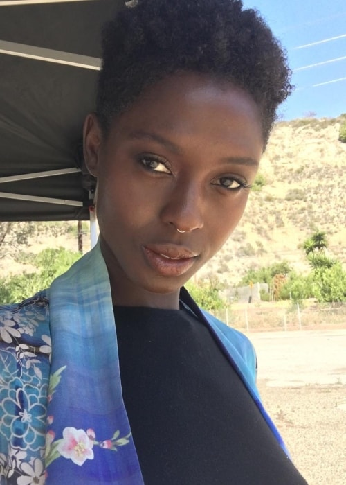Jodie Turner-Smith in a selfie at the Aliso and Wood Canyons Wilderness Park on April 20, 2016