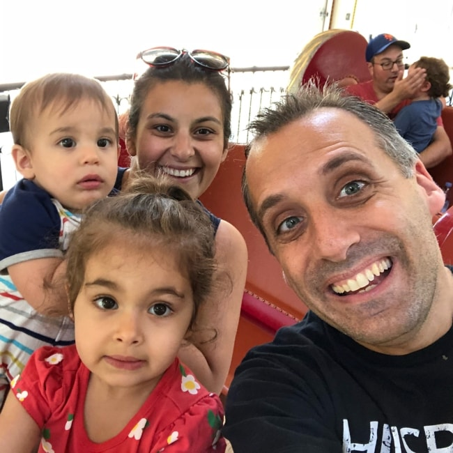 Joe Gatto in a selfie with his wife Bessy Gatto and children at Nunley's Carousel in June 2018