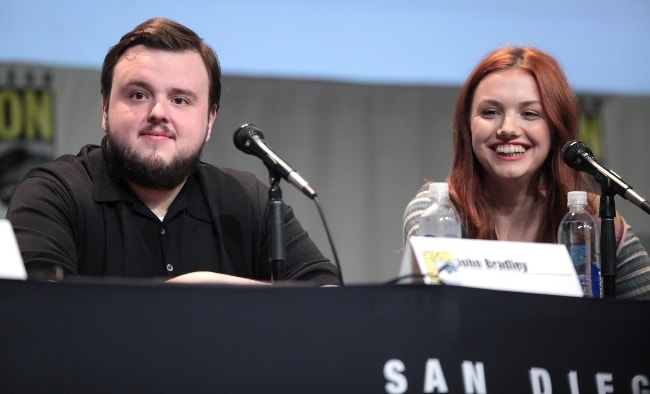 John Bradley and Hannah Murray at the San Diego Comic-Con International for 'Game of Thrones' in July 2015