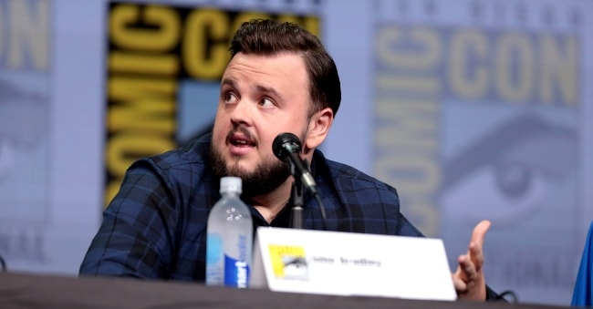 John Bradley as seen while speaking at the 2017 San Diego Comic-Con International for 'Game of Thrones'