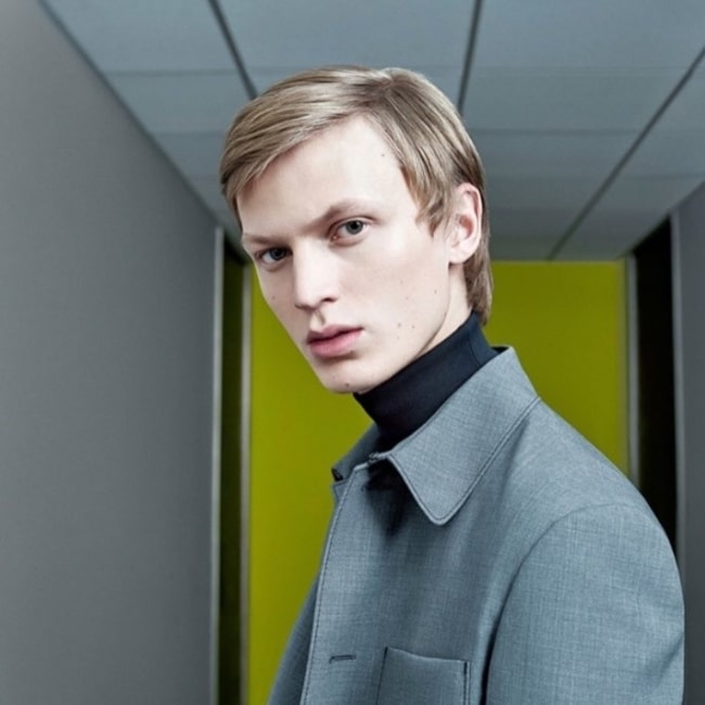 Jonas as seen in a picture taken during a Prada campaign in January 2017