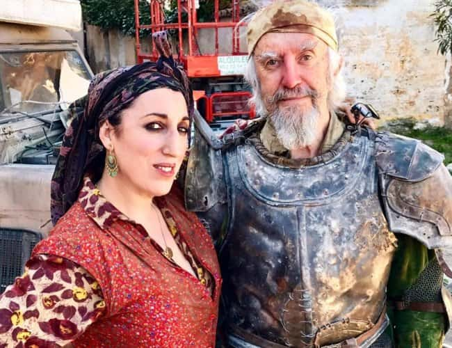 Jonathan Pryce and Rossy de Palma as seen in May 2018