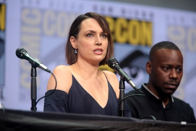 Julie Ann Emery and Malcolm Barrett at the San Diego Comic-Con International for 'Preacher' in July 2017