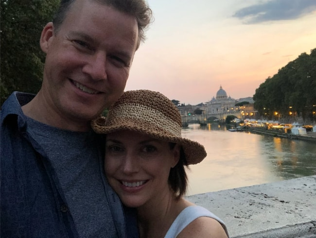Julie Ann Emery with Kevin Earley in Rome in August 2018