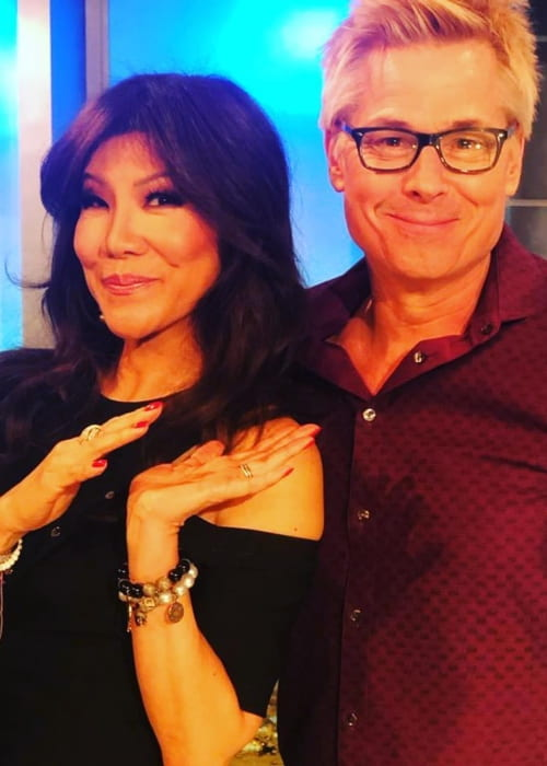 Kato Kaelin and Julie Chen as seen in February 2019