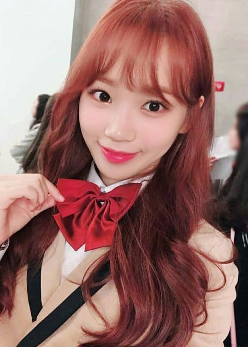 Kim Chaewon in an Instagram post in November 2018