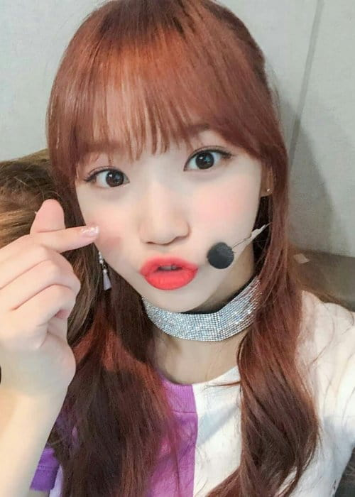 Kim Chaewon in an Instagram selfie as seen in December 2018