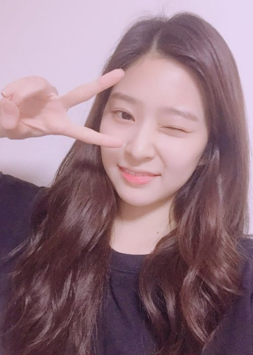 Kim Minjoo in a selfie as seen in August 2018