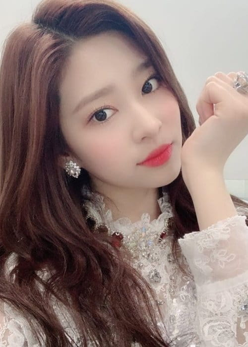 Kim Minjoo in a selfie in February 2019