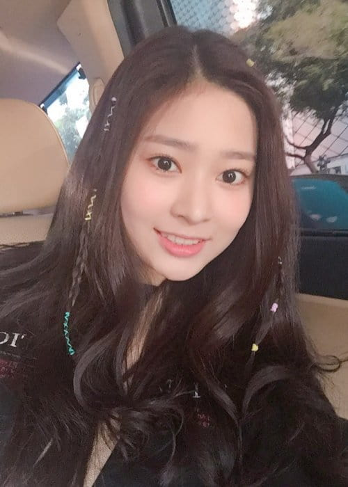Kim Minjoo in an Instagram selfie as seen in August 2018