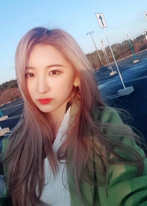 Lee Chaeyeon as seen in January 2019