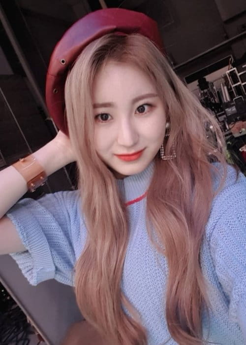 Lee Chaeyeon in a selfie in February 2019