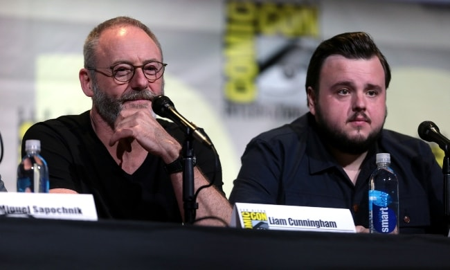 Liam Cunningham (Left) and John Bradley at the 2016 San Diego Comic-Con International for 'Game of Thrones'