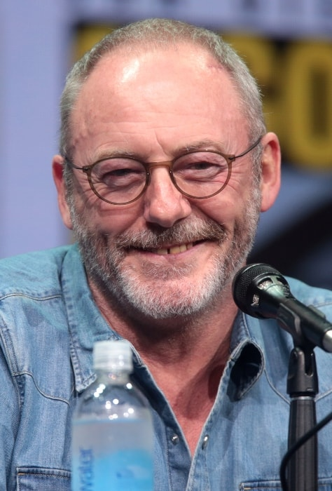 Liam Cunningham smiling during the 2017 San Diego Comic-Con International for 'Game of Thrones'