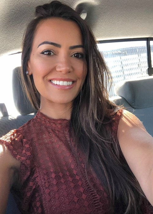 Luciana Andrade as seen in a selfie in August 2018