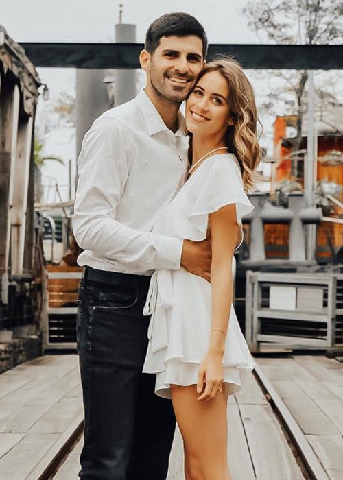 Lucie Fink with her boyfriend Michael James Morris as seen on her Instagram in January 2019