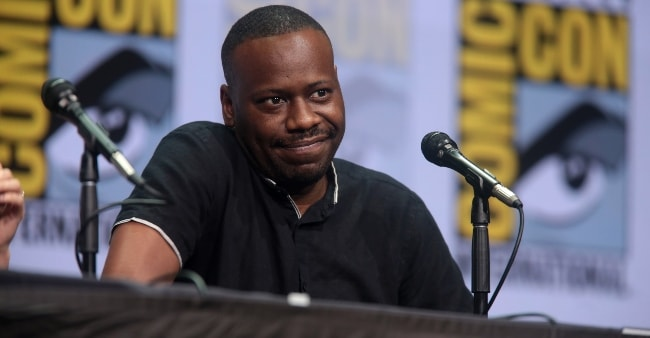 Malcolm Barrett at the San Diego Comic-Con International for 'Preacher' in July 2017