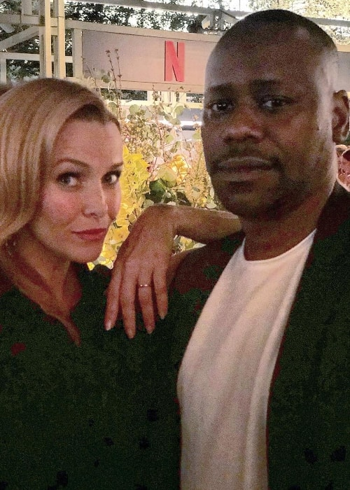 Malcolm Barrett with Annie Wersching in September 2018