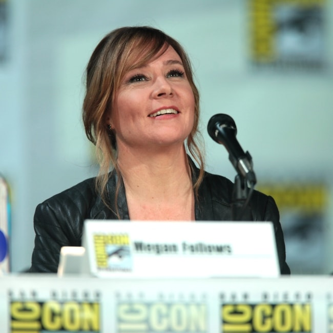 Megan Follows as seen in a picture taken during the San Diego Comic Con International, for Reign in July 2014