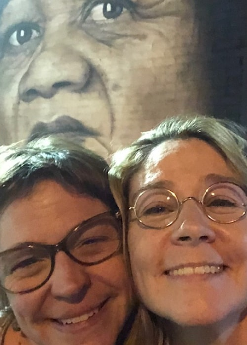 Megan Follows in a selfie with her sister in April 2018