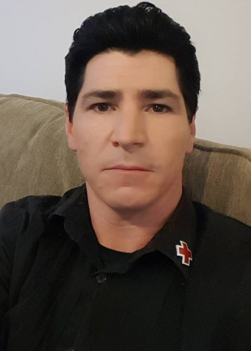 Michael Fishman in a selfie in September 2018