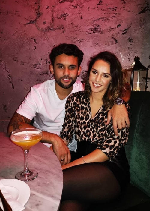 Mollie Winnard as seen in a picture with Jordan Murphy at the Menagerie Restaurant & Bar in November 2018