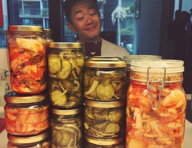 Pickles made by Benjamin Law in January 2018