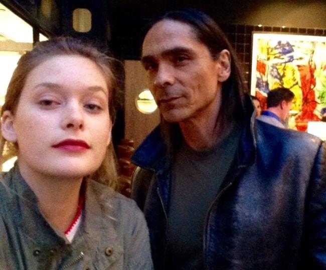 Rachel Keller in a selfie with Zahn McClarnon in November 2015