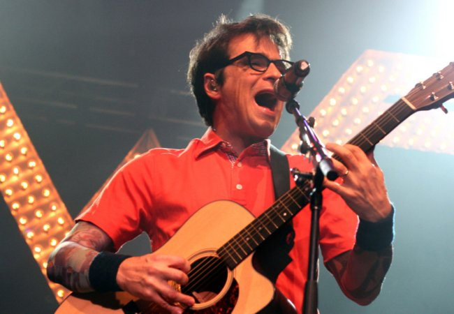 Rivers Cuomo during a performance in October 2011