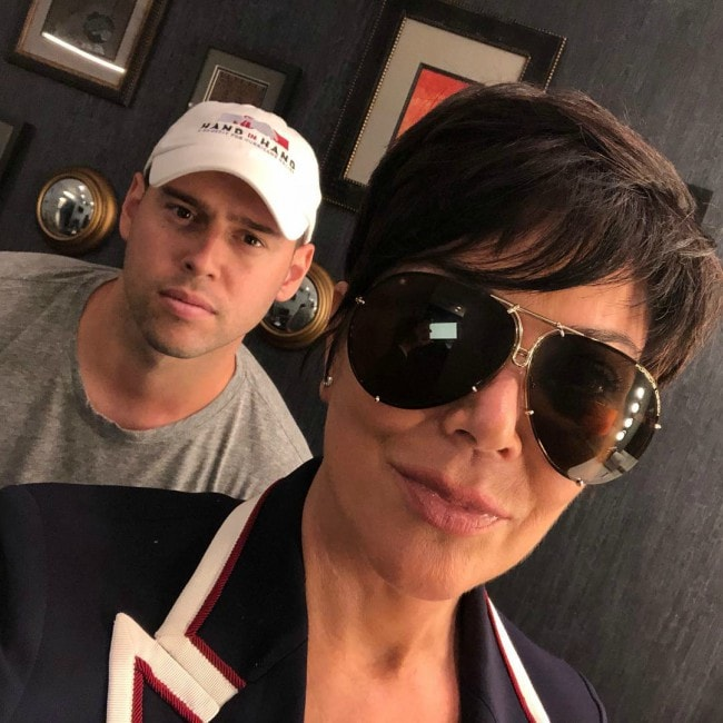 Scooter Braun as seen in a selfie with Kris Jenner in August 2018
