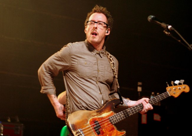 Scott Shriner during a performance in October 2011