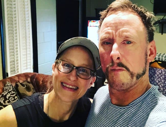 Scott Shriner in a selfie with his sister as seen in July 2018