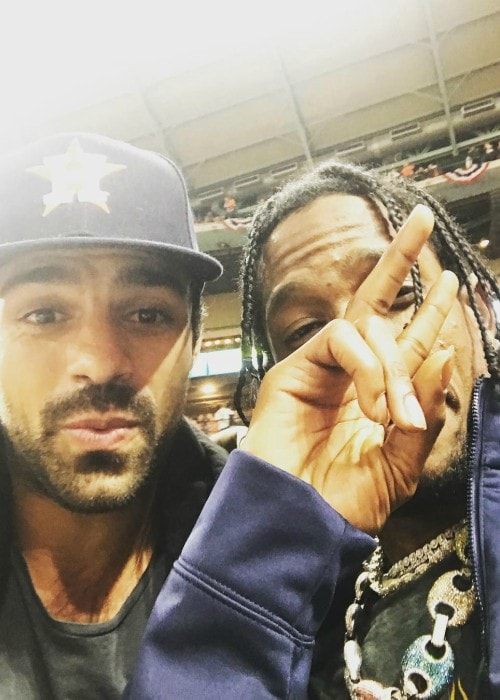 Sean Teale as seen with Travis Scott in October 2017