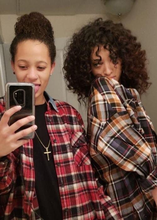 Selena Forrest in a selfie with her girlfriend Aqua Parios in February 2019