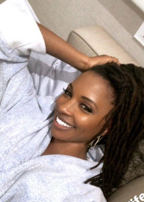 Shanola Hampton in a selfie in June 2018