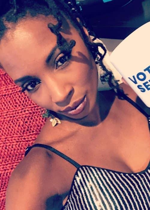 Shanola Hampton in an Instagram selfie as seen in September 2018