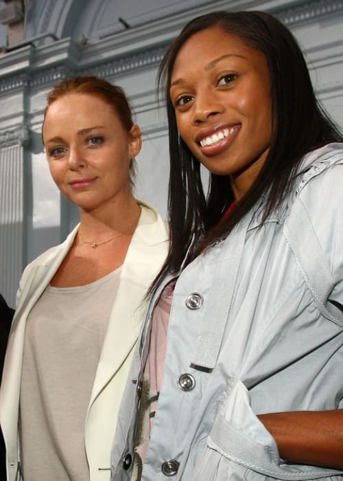 Stella McCartney (Left) and Allyson Felix as seen in September 2008