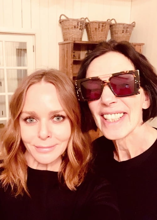 Stella McCartney (Left) and Katharine Hamnett in a selfie in November 2018