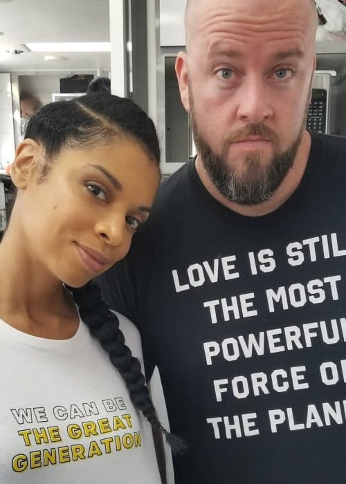 Susan Kelechi Watson and Chris Sullivan as seen in October 2018