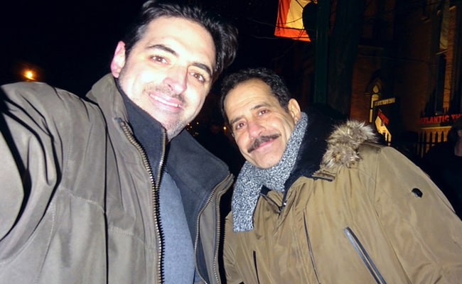Tony Shalhoub with a Fan in December 2016
