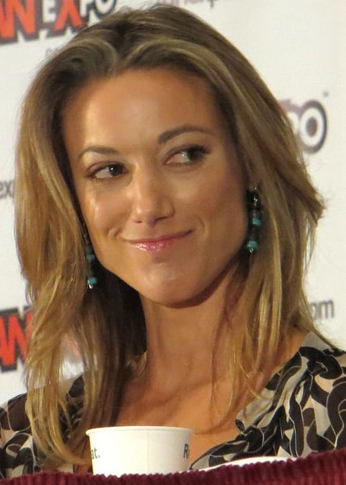 Zoie Palmer at FanExpo in Toronto in August 2012