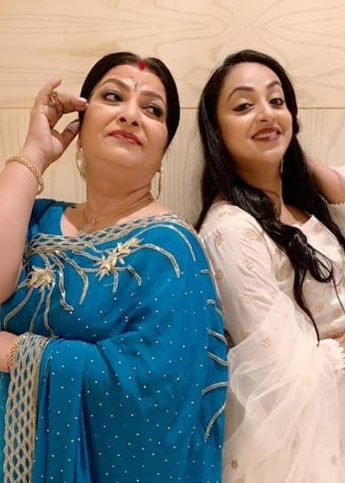 Abha Parmar as seen in a picture with Madhusree Sharma taken in December 2018