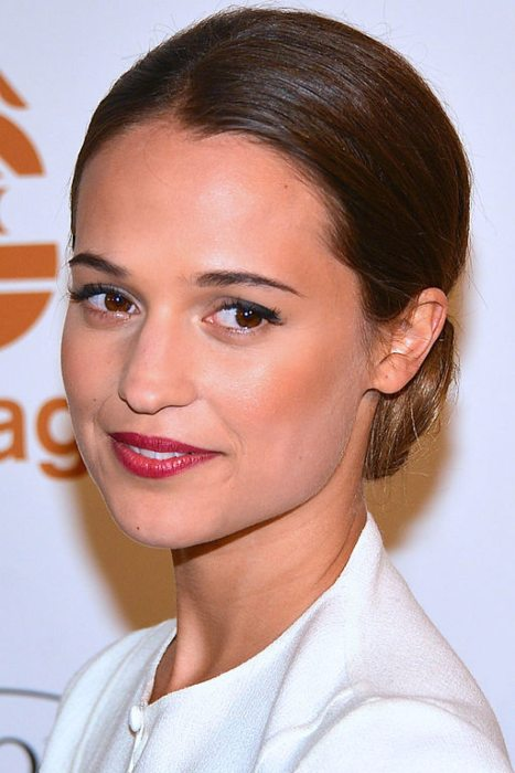 Alicia Vikander at the Guldbagge Awards in January 2013