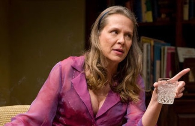 Amy Morton as seen while talking