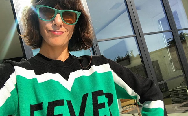 Ana Lily Amirpour in an Instagram Selfie in November 2018