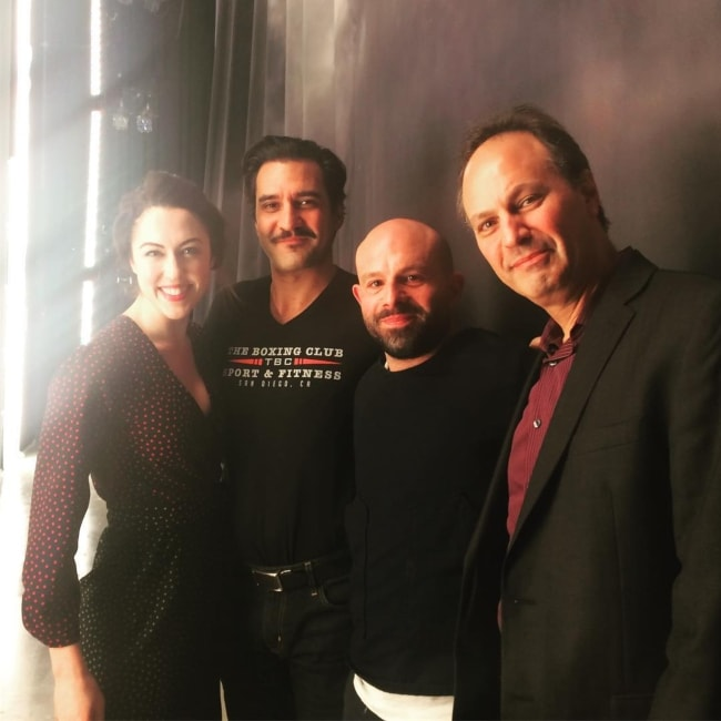 Anatol Yusuf as seen in a picture with Kelley Curran, Dion Mucciacito, and Jonathan Kalb in April 2018